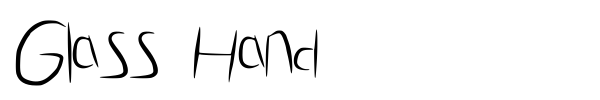 Glass Hand font preview