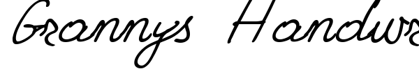 Grannys Handwriting font