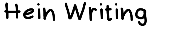 Hein Writing font preview