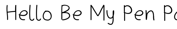 Hello Be My Pen Pal font