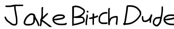 Jake Bitch Dude font