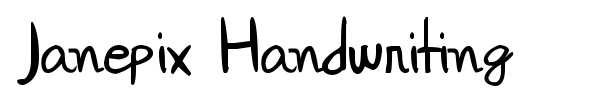 Janepix Handwriting font