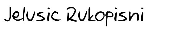 Jelusic Rukopisni font preview