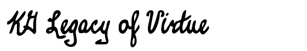 KG Legacy of Virtue font