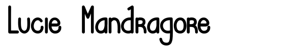 Lucie Mandragore font