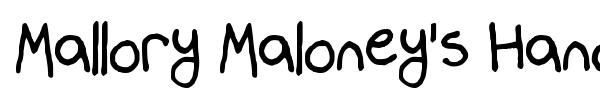 Mallory Maloney's Handwriting font preview