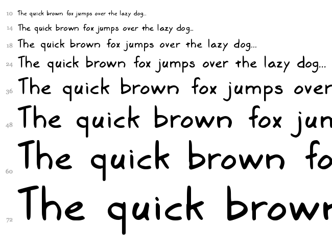 Marker SD font waterfall