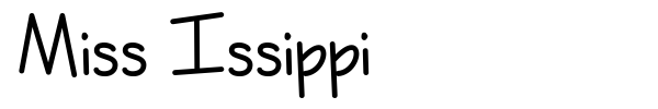 Miss Issippi font preview