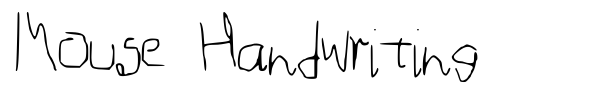 Mouse Handwriting font preview