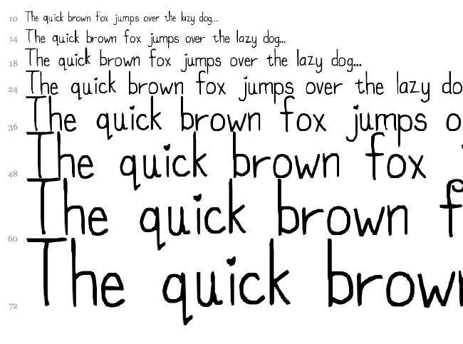 My font isnt funky enough font waterfall