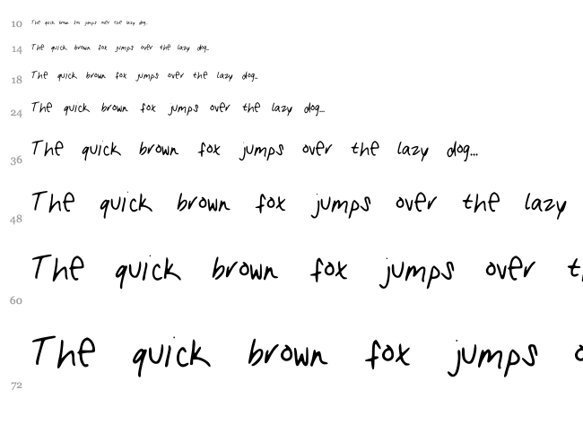 My Handwriting font waterfall