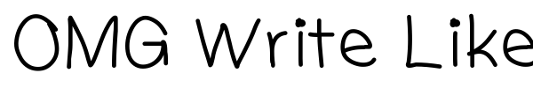 OMG Write Like William font