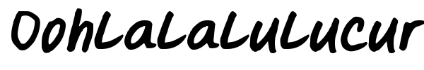 Oohlalalulucurvy font preview