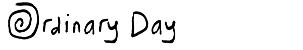 Ordinary Day font