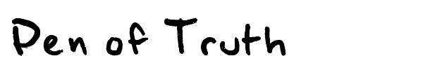 Pen of Truth font