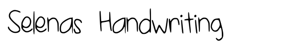 Selenas Handwriting font