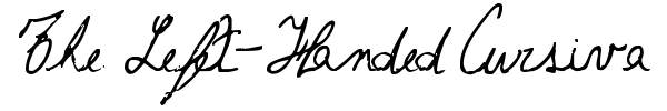 The Left-Handed Cursiva font