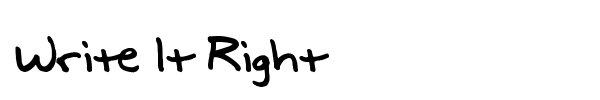 Write It Right font preview