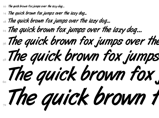 Art Brush font waterfall