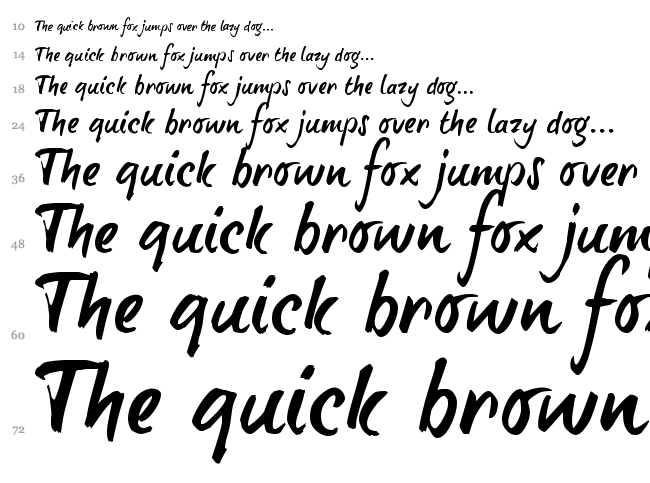 Brush Tip Terrence font waterfall