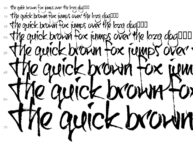 Brushtip C font waterfall