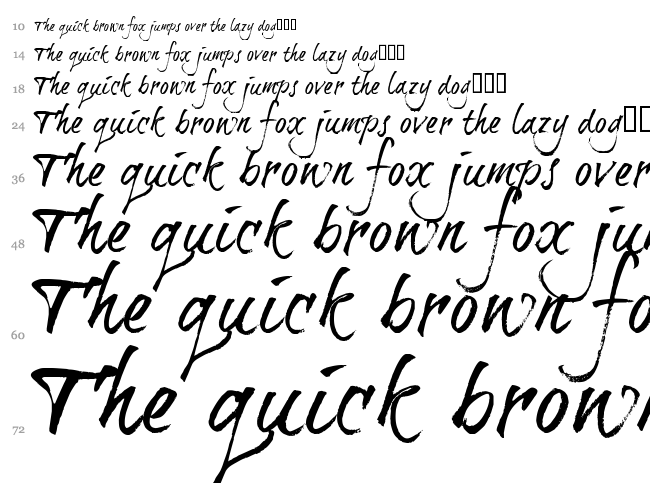 Brushtip Travis font waterfall