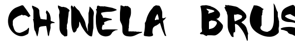 Chinela Brush font