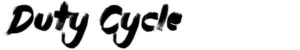 Duty Cycle font