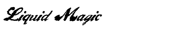 Liquid Magic font