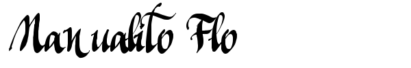 Manualito Flo font preview