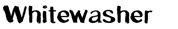 Whitewasher font preview