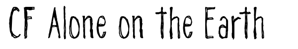 CF Alone on the Earth font