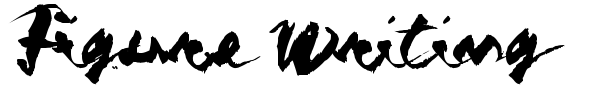 Figure Writing font