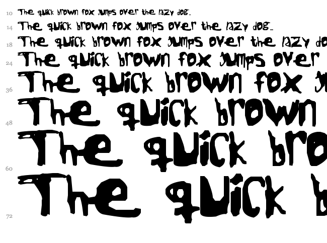 Jack the Ripper font waterfall