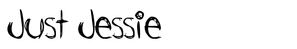 Just Jessie font preview