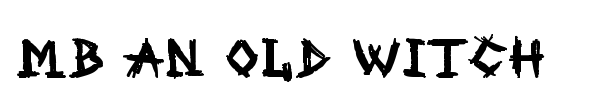 MB An Old Witch font preview