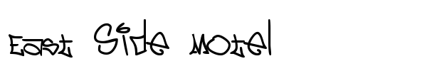 East Side Motel font