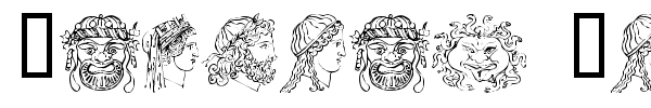 Ancient Heads font preview