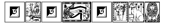 Egyptian font preview