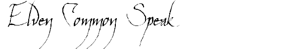 Elven Common Speak font
