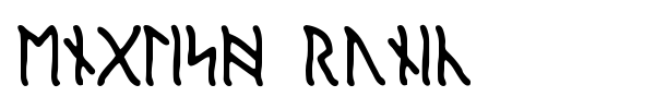 English Runic font preview