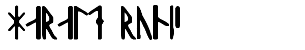 Harald Runic font