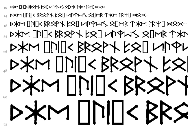 Ice Egg Futhark font waterfall