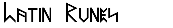 Latin Runes font preview