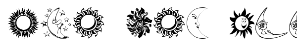 Sun and Moon font