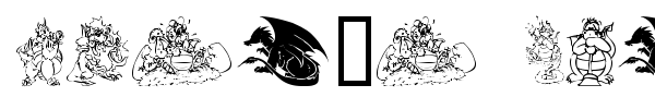 Lisa's Dragons font