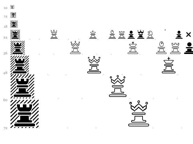 Chess Marroquin font waterfall