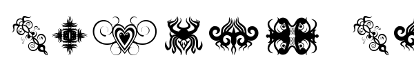 Tribal Tattoo Addict font preview
