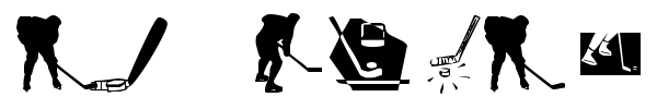 KR Hockey Dings font preview