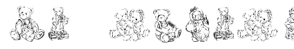 KR Adorable Teddies font preview